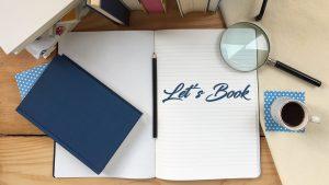 Quadernone Let's Book su scrivania