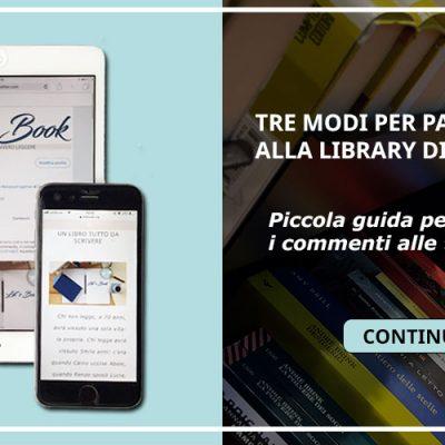 TRE MODI PER PARTECIPARE ALLA LIBRARY DI LET'S BOOK