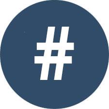 Icona degli hashtag di Let's Book