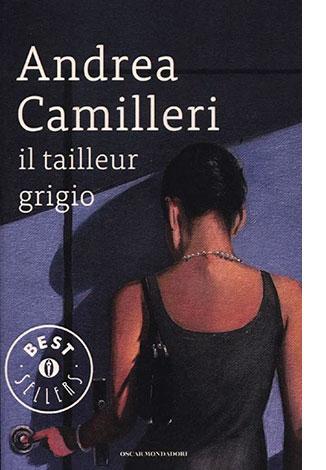 """La copertina di """"Tailleur grigio"""" di Andrea Camilleri (Mondadori)"""
