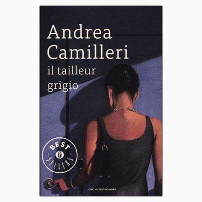 """La copertina di """"Tailleur grigio"""", libro scritto da Andrea Camilleri e pubblicato da Mondadori"""