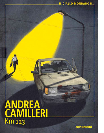 """La copertina di """"Km 123"""" di Andrea Camilleri (Mondadori)"""