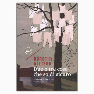 """La copertina di """"Due o tre cose che so di sicuro"""" di Dorothy Allison (minimum fax)"""