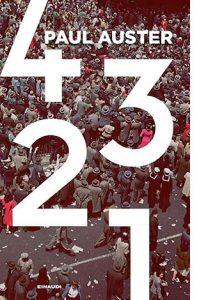 """La copertina del libro """"4 3 2 1"""", scritto da Paul Auster e pubblicato da Einaudi"""