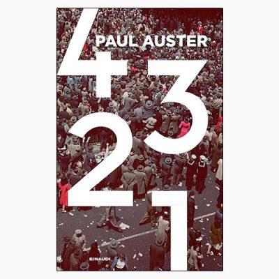 """La copertina del libro """"4 3 2 1"""" di Paul Auster (Einaudi)"""