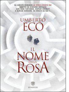 """La copertina de """"Il nome della rosa"""" di Umberto Eco (Bompiani)"""