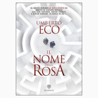 """La copertina de """"Il nome della rosa"""", libro scritto da Umberto Eco e pubblicato da Bompiani"""