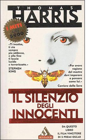 """La copertina de """"Il silenzio degli innocenti"""", libro scritto da Thomas Harris e pubblicato da Mondadori"""