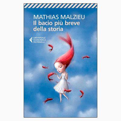 """La copertina de """"Il bacio più breve della storia"""", libro scritto da Mathias Malzieu e pubblicato da Feltrinelli"""