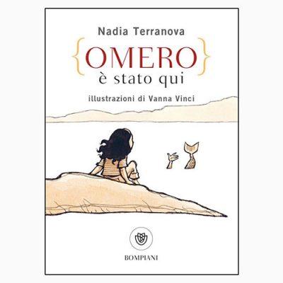 """La copertina del libro """"Omero è stato qui"""" di Nadia Terranova (Bompiani)"""