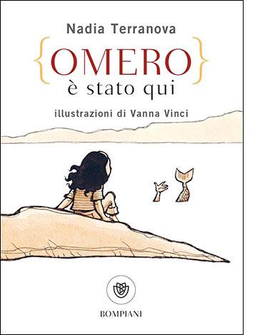 """La copertina di """"Omero è stato qui"""", libro scritto da Nadia Terranova e pubblicato da Bompiani"""