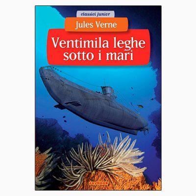 """La copertina del libro """"Ventimila leghe sotto i mari"""" di Jules Verne (JoyBook)"""