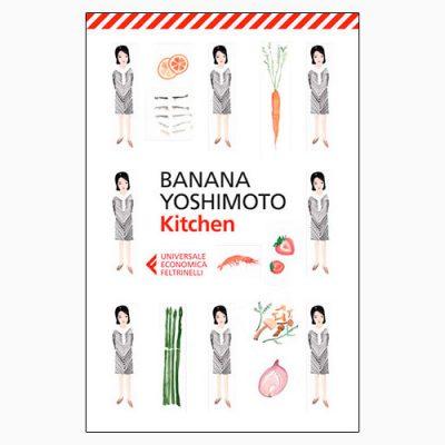 """La copertina di """"Kitchen"""", libro scritto da Banana Yoshimoto e pubblicato da Feltrinelli"""