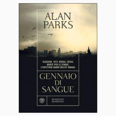 """La copertina del libro """"Gennaio di sangue"""" di Alan Parks (Bompiani)"""