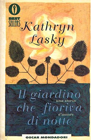 """La copertina del libro """"Il giardino che fioriva di notte"""" di Kathryn Lasky (Mondadori)"""