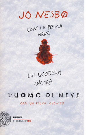 """La copertina del libro """"L'uomo di neve"""", scritto da Jo Nesbø e pubblicato da Einaudi"""
