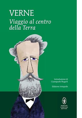"""La copertina del libro """"Viaggio al centro della Terra"""" di Jules Verne (Newto Compton)"""