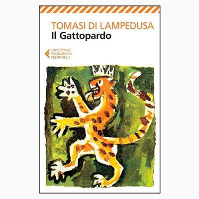 """La copertina del libro """"Il Gattopardo"""", scritto da Giuseppe Tomasi di Lampedusa e pubblicato da Feltrinelli"""