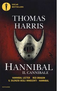 "La copertina del libro ""Hannibal"" di Thomas Harris (Mondadori)"