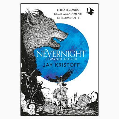 """La copertina del libro """"I grandi giochi. Nevernight"""", scritto da Jay Kristoff e pubblicato da Mondadori"""