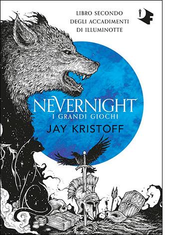 """La copertina de """"I grandi giochi. Nevernight"""", scritto da Jay Kristoff e pubblicato da Mondadori"""