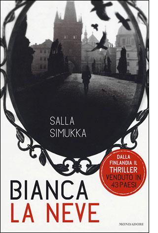 """La copertina del libro """"Bianca la neve"""", scritto da Salla Simukka e pubblicato da Mondadori"""