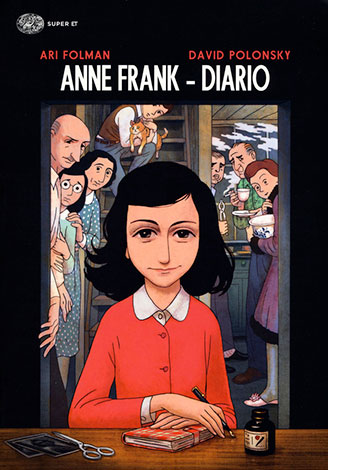 """La copertina del libro """"Anne Frank - Diario"""" di Ari Folman e David Polonsky (Einaudi)"""