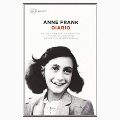 """La copertina del libro """"Diario"""", scritto da Anne Frank e pubblicato da Einaudi"""