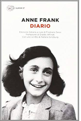 """La copertina del libro """"Diario"""" di Anne Frank (Einaudi)"""