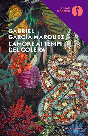 """La copertina del libro """"L'amore ai tempi del colera"""" Gabriel García Márquez (Mondadori)"""