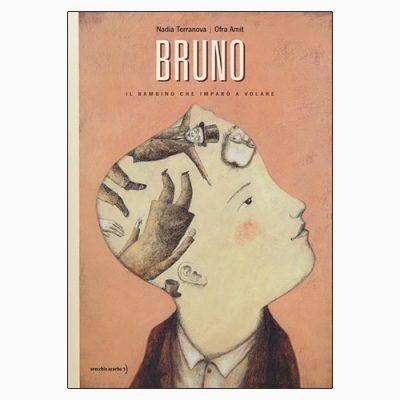 """La copertina del libro """"Bruno"""", scritto da Nadia Terranova e illustrato da Ofra Amit (Orecchio Acerbo)"""