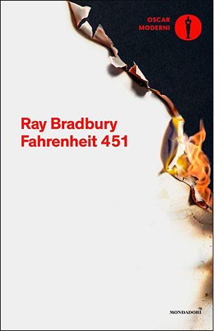 """la copertina del libro """"Fahrenheit 451"""", scritto da Ray Bradbury e pubblicato da Einaudi"""