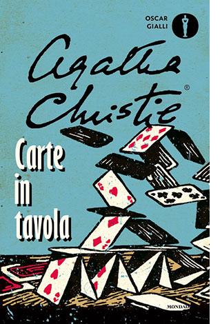 """La copertina del libro """"Carte in tavola"""" di Agatha Christie (Mondadori)"""