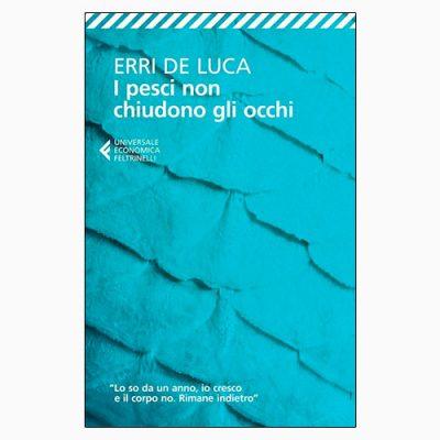 """La copertina del libro """"I pesci non chiudono gli occhi"""" di Erri De Luca (Feltrinelli)"""