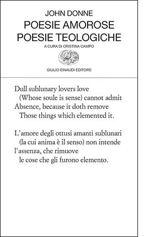 "La copertina del libro ""Poesie amorose. Poesie teologiche"" di John Donne (Einaudi)"