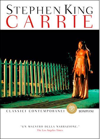"""La copertina del libro """"Carrie"""" di Stephen King (Bompiani)"""