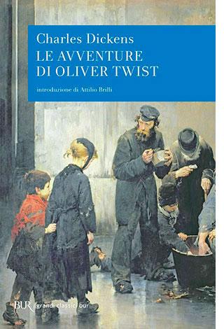 """La copertina del libro """"Le avventure di Oliver Twist"""" di Charles Dickens (Rizzoli)"""