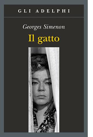 """La copertina del libro """"Il gatto"""" di Georges Simenon (Adelphi)"""