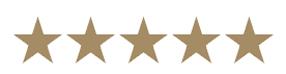 Voto per il libro recensito: cinque stelle su cinque