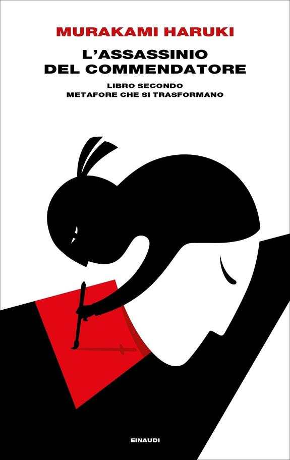 """La copertina del libro """"Metafore che si trasformano"""", secondo libro della serie """"L'assassinio del commendatore"""" di Murakami (einaudi)"""