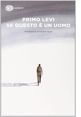"""La copertina del libro """"Se questo è un uomo"""" di Primo Levi (Einaudi)"""
