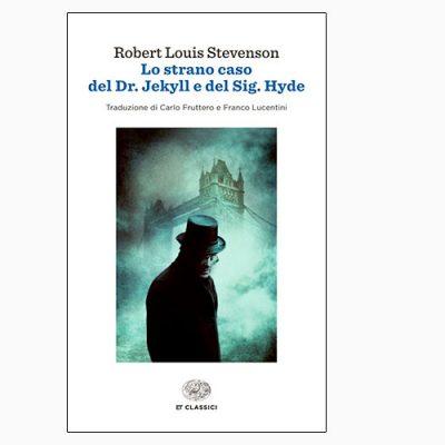 """La copertina del libro """"Lo strano caso del Dr. Jekyll e del Sig. Hyde"""" di R. L. Stevenson (Einaudi)"""