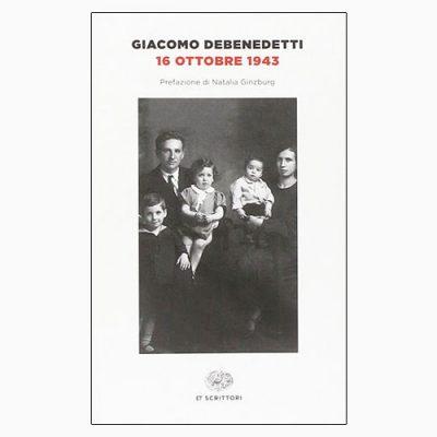 """La copertina del libro """"16 ottobre 1943"""" di Giacomo Debenedetti (Einaudi)"""