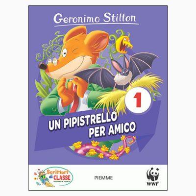 """La copertina del libro """"Un pipistrello per amico"""" di Geronimo Stilton (Piemme)"""