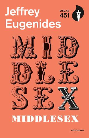 "La copertina del libro ""Middlesex"" di Jeffrey Eugenides (Mondadori)"
