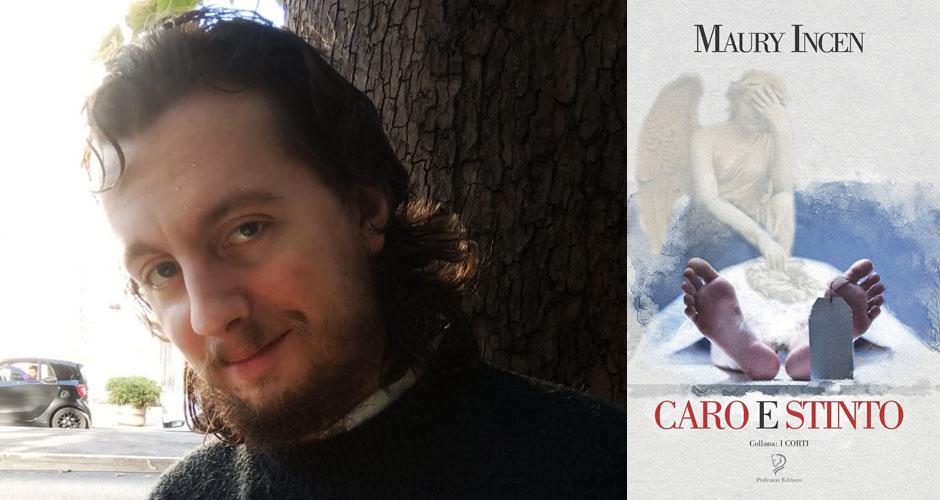 """Maury Icen e la copertina del suo libro """"Caro e stinto"""" (Pedrazzi Editore)"""