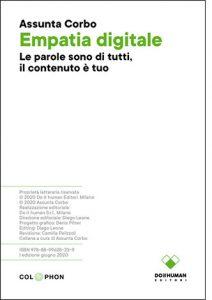 """La copertina del libro """"Emapatia digitale"""" di Assunta Corbo (Einaudi)"""