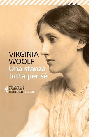 """La copertina del libro """"Una stanza tutta per sé"""" di Virginia Woolf (Feltrinelli)"""