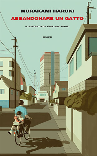 """La copertina del libro """"Abbandonare un gatto"""" di Murakami Haruki (Einaudi)"""